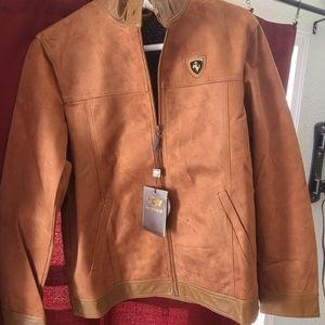 Emporio &Co. Mens Suede/Italian Leather Jacket